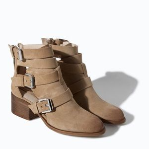 Zara Suede Ankle Booties